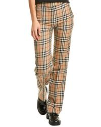 Burberry Vintage Check Wool Tailored Trouser - Brown