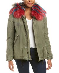 Mr & Mrs Italy Leather-trim Parka - Green