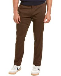 Theory Zaine Eco Crunch Linen-blend Pant - Red