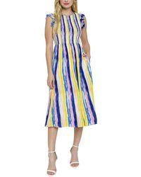 English Factory Midi Dress - Blue