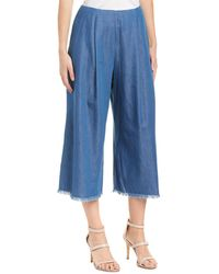 Kendall + Kylie Chambray Pant - Blue