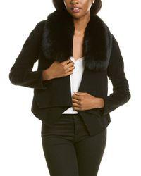 Halston Wool-blend Jacket - Black