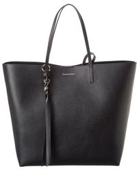 Alexander McQueen Skull Leather Tote - Black