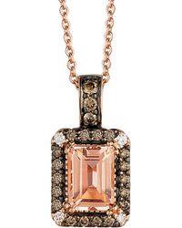 Le Vian ? 14k Rose Gold 0.96 Ct. Tw. Diamond & Morganite Necklace - Pink