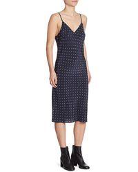 Vince - Refined Dot Silk Slip Dress - Lyst