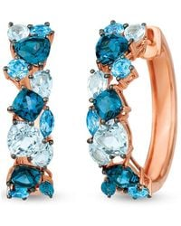Le Vian ? 14k Strawberry Gold? 5.40 Ct. Tw. Blue Topaz Earrings