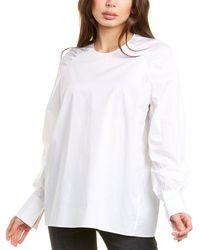 Thakoon Shirred Top - White