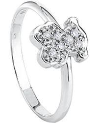 Tous Bear 18k Diamond Ring - Metallic
