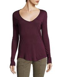 Joe's Jeans - Mia V-neck T-shirt - Lyst
