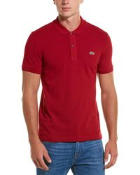 Lacoste Ph4012 Slim Fit Pique Polo - Pink