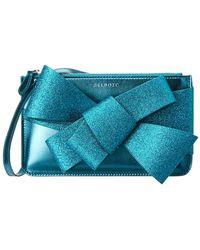 Delpozo - Mini Bow Zip Leather Clutch - Lyst