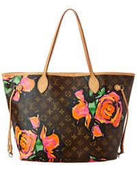Louis Vuitton Limited Edition Stephen Sprouse Roses Monogram Canvas Neverfull Mm - Red