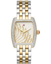 Michele Women's Urban Mini Matinee Diamond Watch - Metallic
