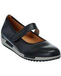 Gabor Leather Flat - Black