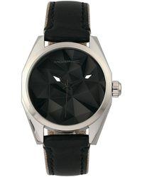 Morphic M59 Series Leather-overlaid Nylon-band Watch - Black