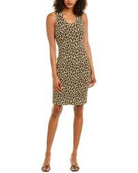 Theory Leopard Sheath Dress - Brown
