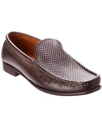 Kenneth Cole New York Set The Zone Leather Loafer - Brown