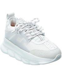 Versace - Chain Reaction Suede & Mesh Sneaker - Lyst