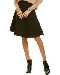 Three Dots Fit & Flare Mini Skirt - Black
