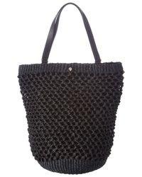 Helen Kaminski - Kourtney Raffia & Leather Shopper - Lyst