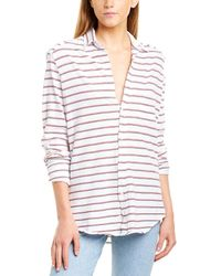 Frank & Eileen Knit Button-down Shirt - White