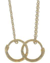 Gucci 18k Ouroboros Necklace - Metallic