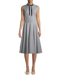 Adam Lippes Stripes Dress - Black