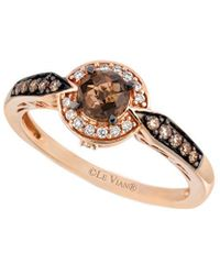 Le Vian ? 14k Rose Gold 0.61 Ct. Tw. Diamond & Smoky Quartz Ring - Metallic