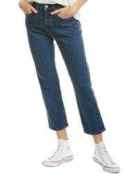 Levi's 501 Straight Crop Leg Jean - Blue