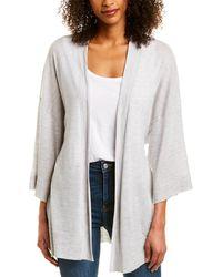 Le Kasha Light Cashmere Kimono - Gray