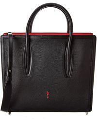 Christian Louboutin Paloma S Mini Leather Tote - Black