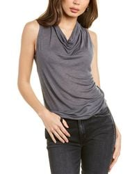 Theory Cowl Neck Cashmere-blend Top - Grey