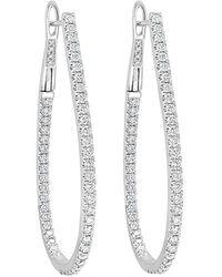 Sabrina Designs 14k 1.60 Ct. Tw. Diamond Hoops - Multicolour