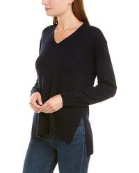 Vince Side Slit Wool & Cashmere-blend Tunic - Blue