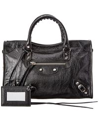 Balenciaga Classic City Small Leather Shoulder Bag - Black