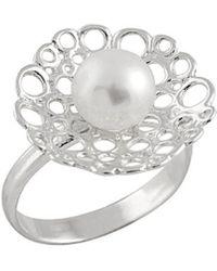 Splendid 7-7.5mm Freshwater Pearl Ring - Multicolor