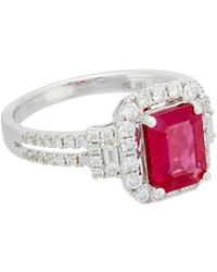 Diana M. Jewels . Fine Jewellery 18k 2.70 Ct. Tw. Diamond & Ruby Ring - Multicolour