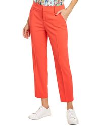 Alice + Olivia Stacey Slim Pant - Red