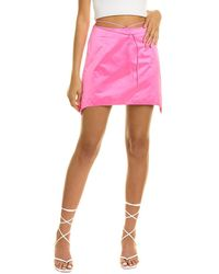 Helmut Lang Satin Mini Skirt - Pink