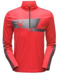 Spyder Limitless Retro Zip T-neck - Red