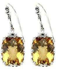 Samuel B. Silver 11.40 Ct. Tw. Citrine Drop Earrings - Metallic
