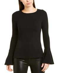 Lea & Viola Bell-sleeve Jumper - Black