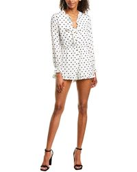 Romeo and Juliet Couture Polka Dot Romper - White