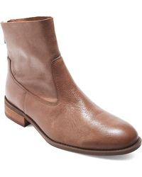 Me Too - Logan Leather Bootie - Lyst