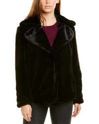 Kensie Reversible Plush Jacket - Black