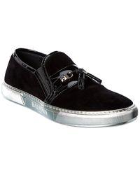 Balmain Velvet Loafer - Black