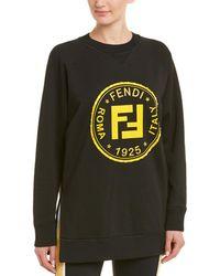 Fendi Beaded Graphic Sweatshirt - Black