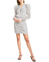 Ronny Kobo Flora Silk-blend Mini Dress - White