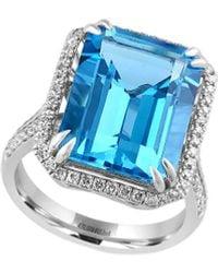 Effy 14k 12.21 Ct. Tw. Diamond & Blue Topaz Ring