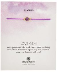 Dogeared - Love 14k Over Silver Amethyst Bracelet - Lyst